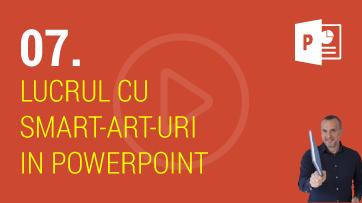 Lucrul cu Smartart-uri in PowerPoint