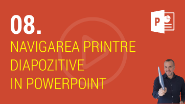 Navigarea printre diapozitive in PowerPoint