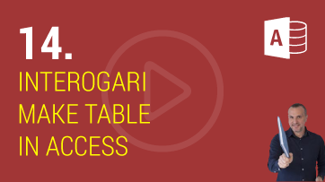 Interogari Make Table in Microsoft Access