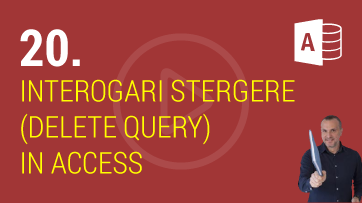 Interogari Stergere (Delete Query) in Microsoft Access